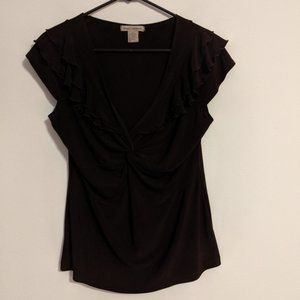 Susan Lawrence Short Sleeved Blouse Size L